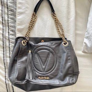 Valentino Grey Shoulder Bag